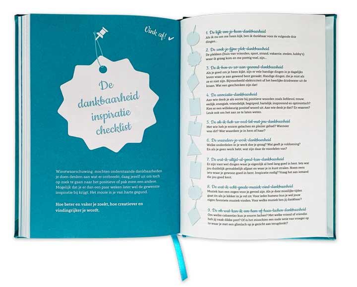 Dankbaarheid dagboek checklijst
