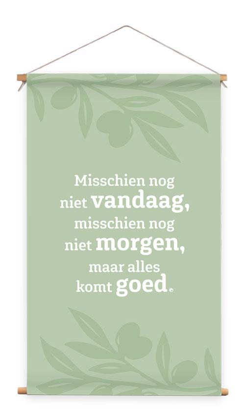 Wanddoek groen