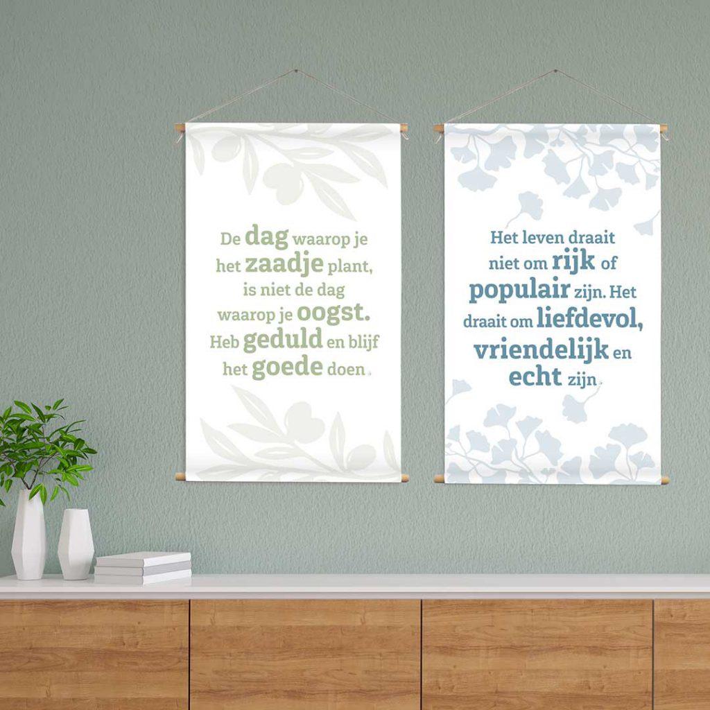 Wanddoek positieve spreuken