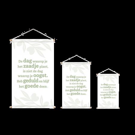 Wanddoeken wit met groen