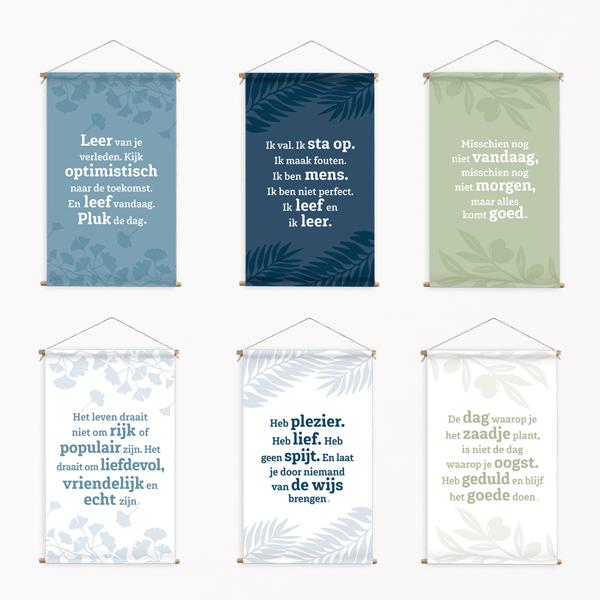 Wanddoeken positieve spreuken