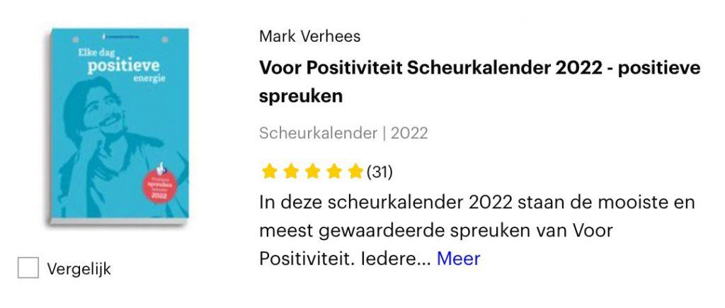 Scheurkalender positieve spreuken 2022